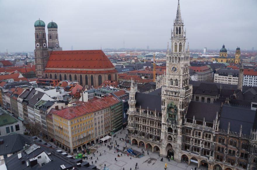 Смотреть красивое фото город Мюнхен центр