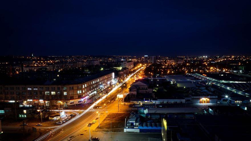 Смотреть красивое фото ночной город Харьков в хорошем качестве