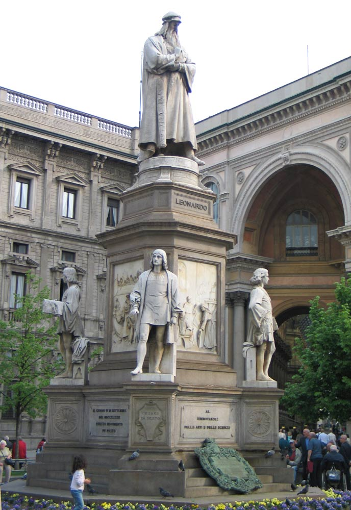 Статуя Леонардо город Милан