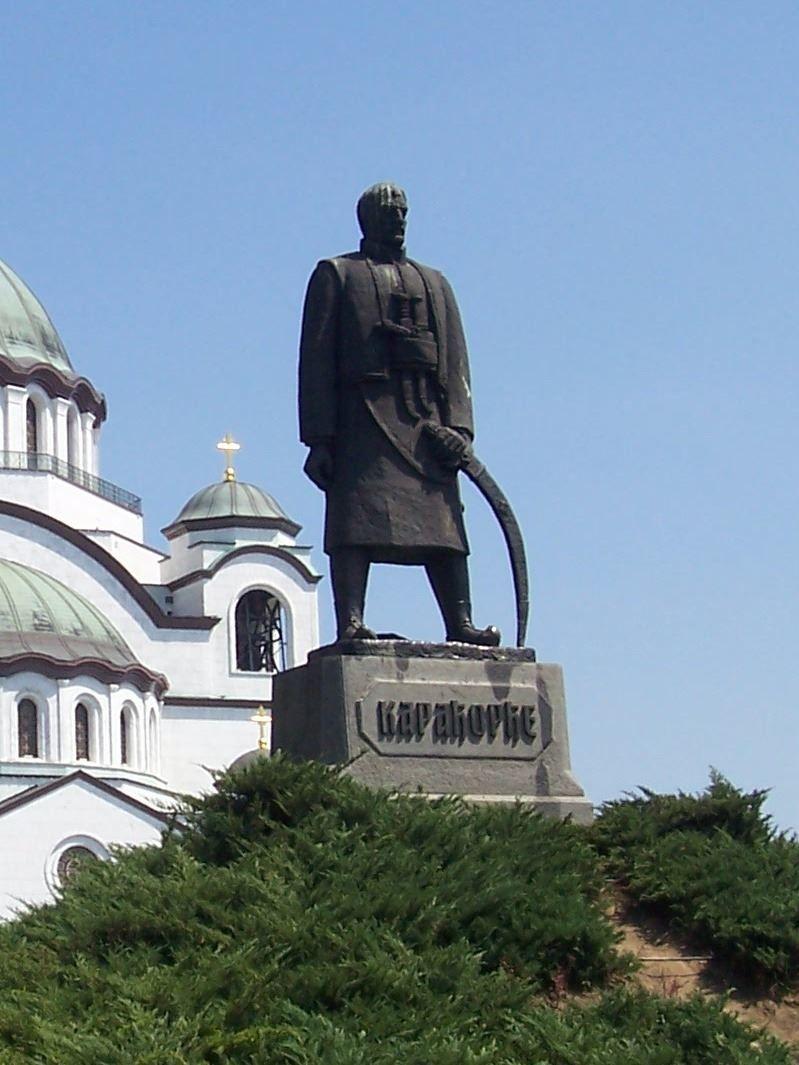 Памятник Карагеоргий город Белград Сербия
