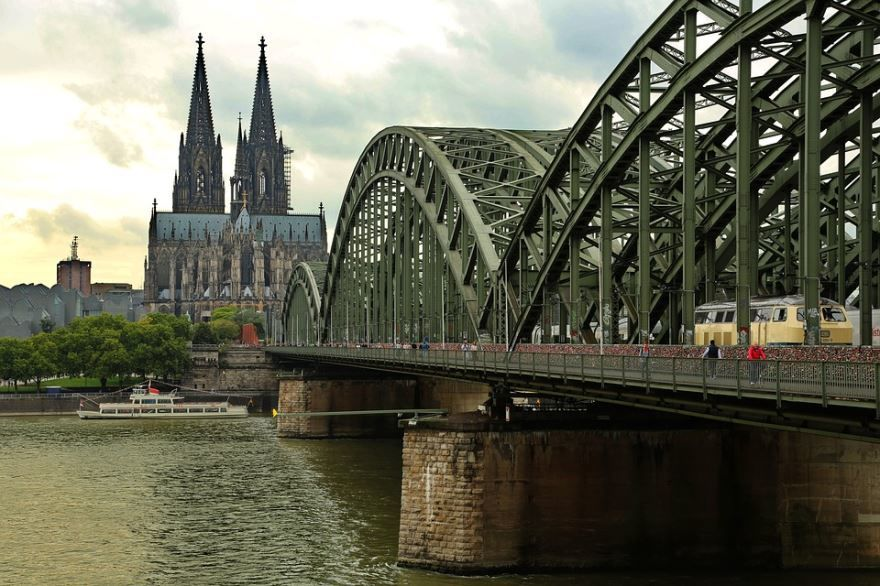 Смотреть красивое фото мост город Кельн 2019