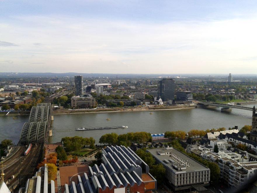 Панорама города Кельн Германия