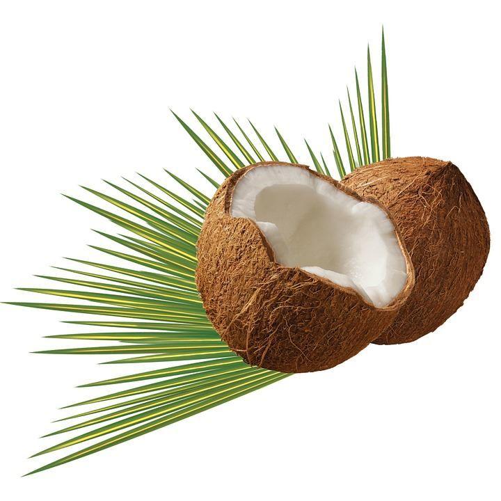 Фото открытого, расколотого кокоса