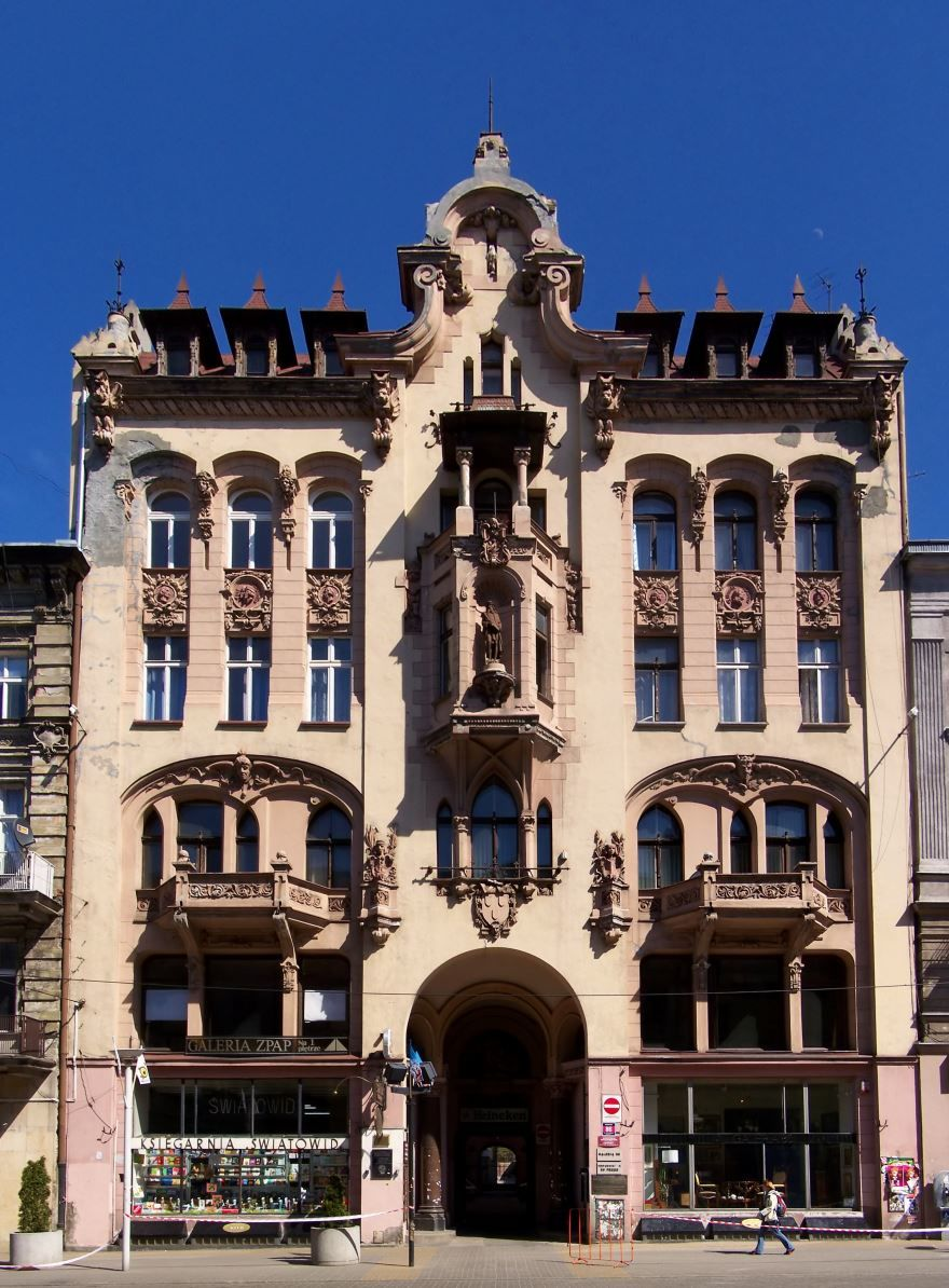Смотреть красивое фото с красивой архитектурой город Лодзь