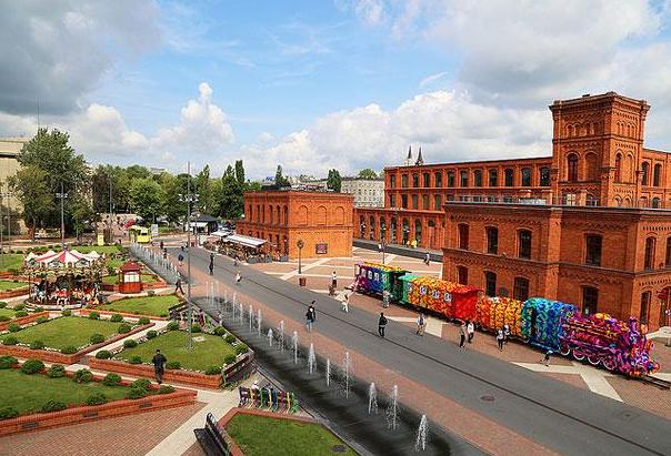 Скачать онлайн бесплатно лучшее фото вид на город Лодзь в хорошем качестве