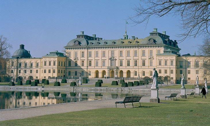 Красивый дворец Швеции