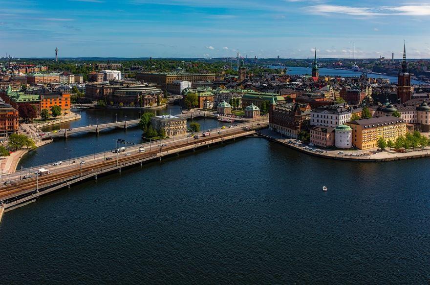 Смотреть красивое фото вид на город Стокгольм 2018