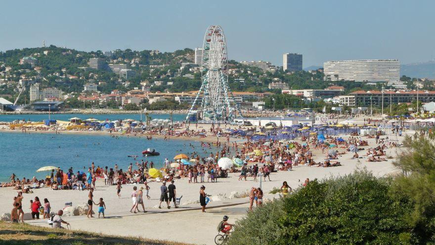 Пляж города Марсель Франция