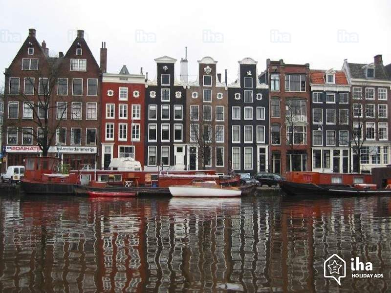 Плавучий дом город Амстердам