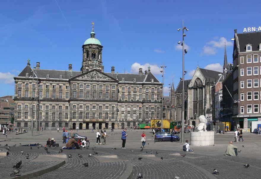 Площадь город Амстердам