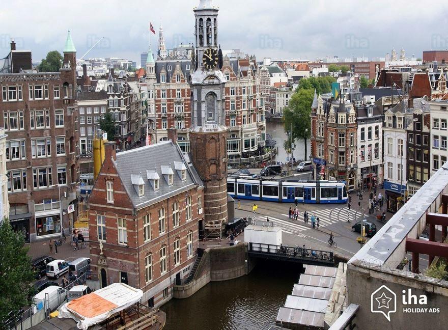Смотреть красивое фото вид на город Амстердам