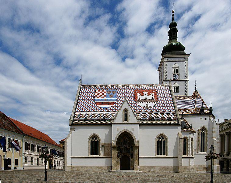 Церковь Святого Марка город Загреб Хорватия