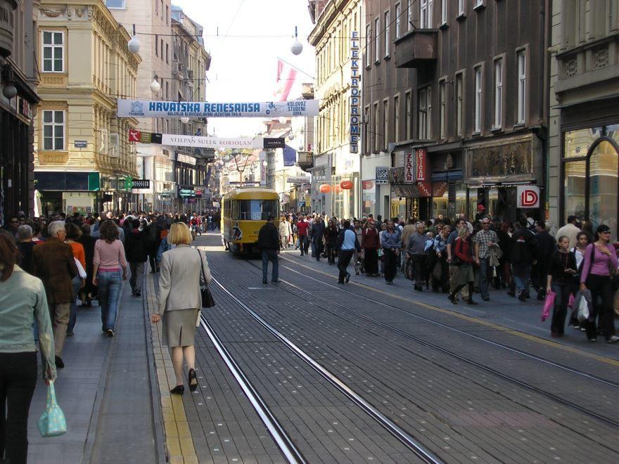 Улица города Загреб 2019