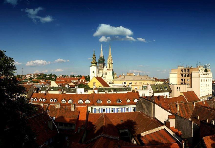 Скачать онлайн бесплатно лучшее фото вид города Загреб в хорошем качестве