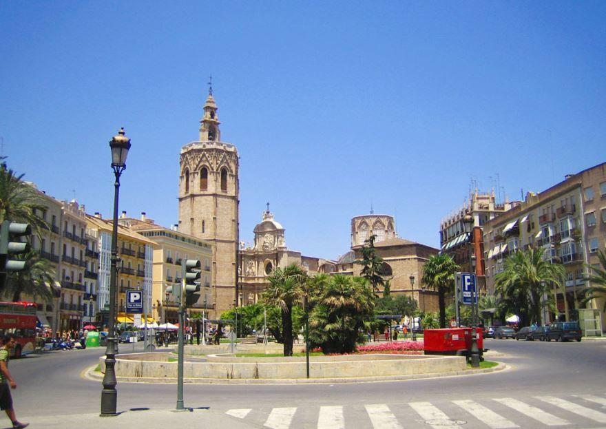 Площадь город Валенсия