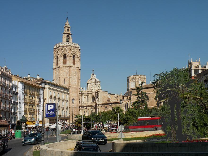 Улица города Валенсия Испания