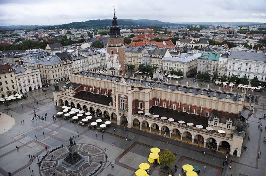 Смотреть красивое фото центр Кракова