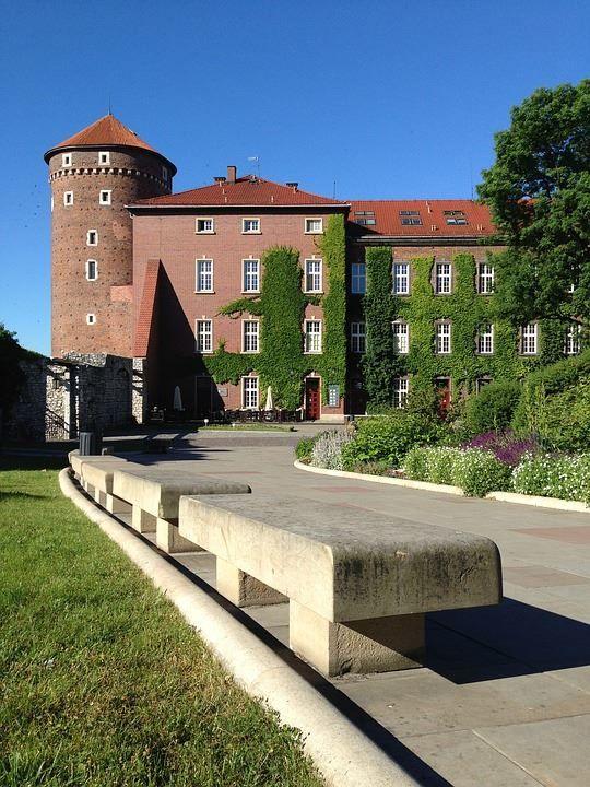 Замок город Краков Польша