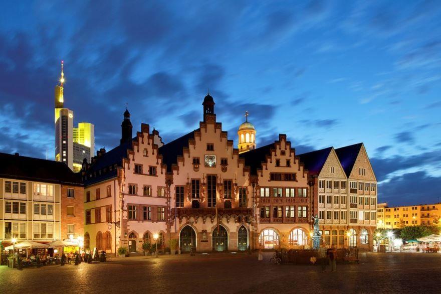 Красивая архитектура города Франкфурт