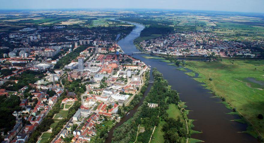 Красивый вид города Франкфурт Германия