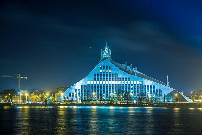 Латвийская национальная библиотека город Рига
