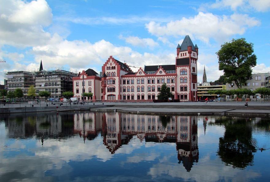 Скачать онлайн бесплатно лучшее фото с красивым видом на город Дортмунд в хорошем качестве