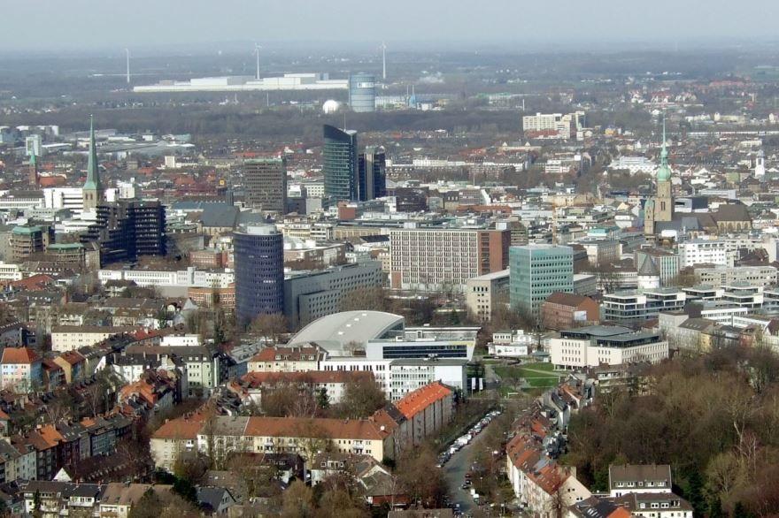 Смотреть красивое фото вид на город Дортмунд
