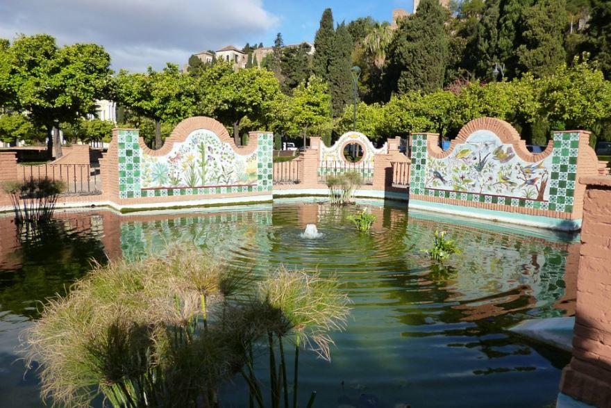 Парк сад город Малага