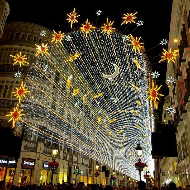Рождество в городе Малага Испания