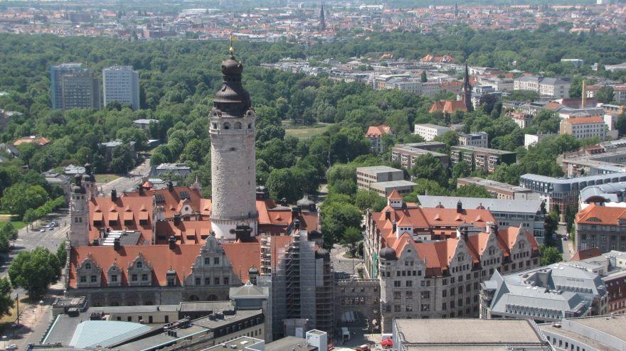 Смотреть красивое фото вид на город Лейпциг 2019