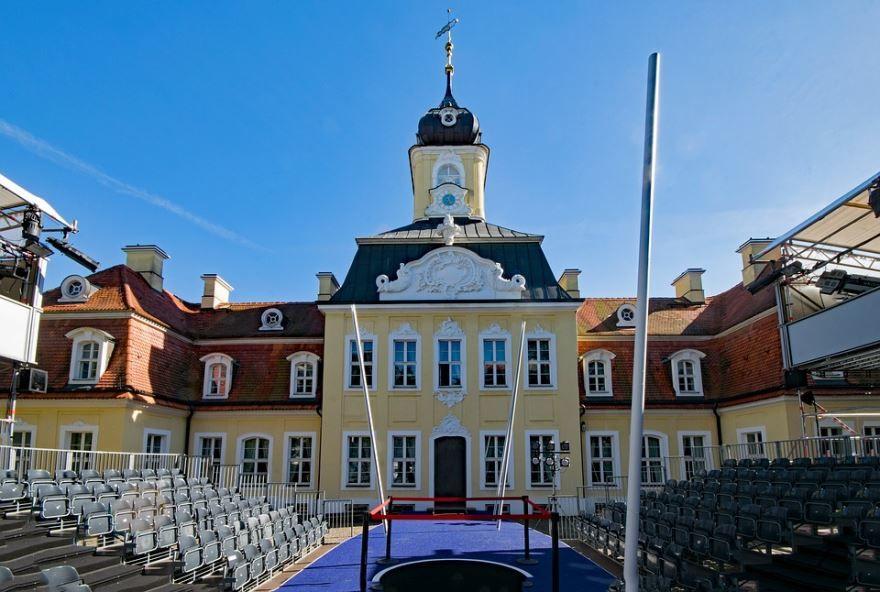 Замок город Лейпциг