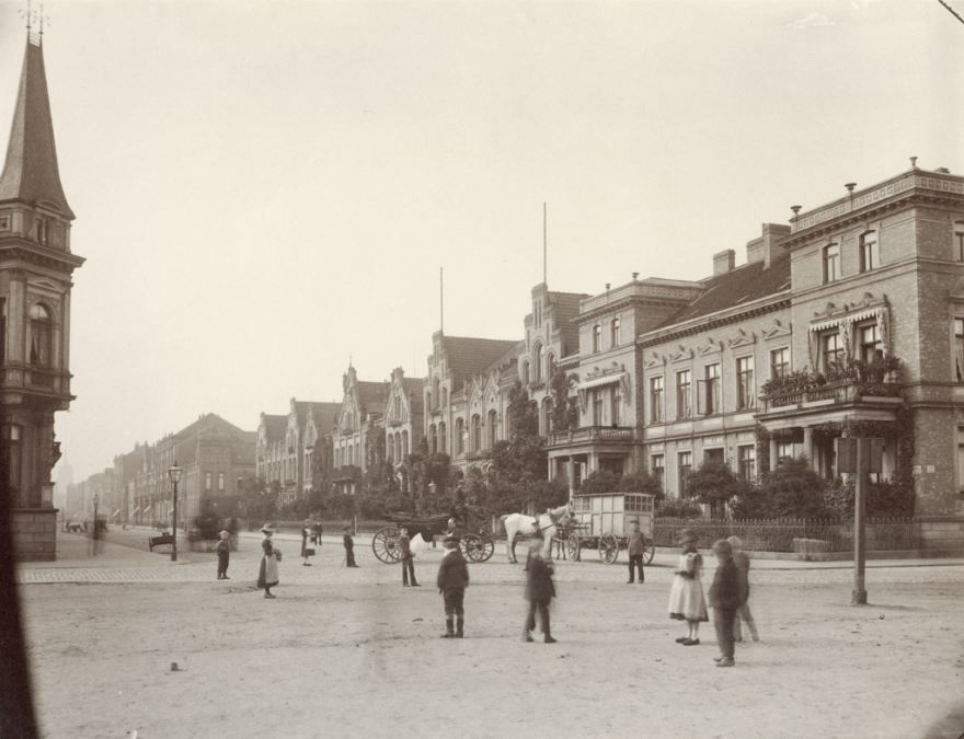 Смотреть красивое старинное фото города Ганновер в хорошем качестве