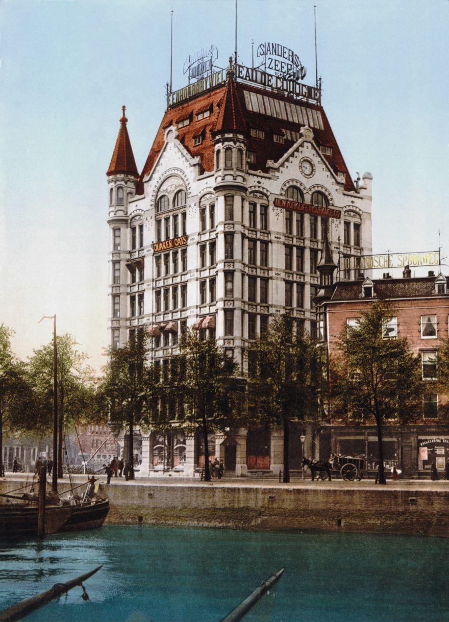 Смотреть красивое фото с красивой архитектурой города Роттердам