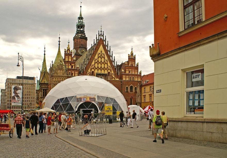 Смотреть красивое фото старый город Вроцлав