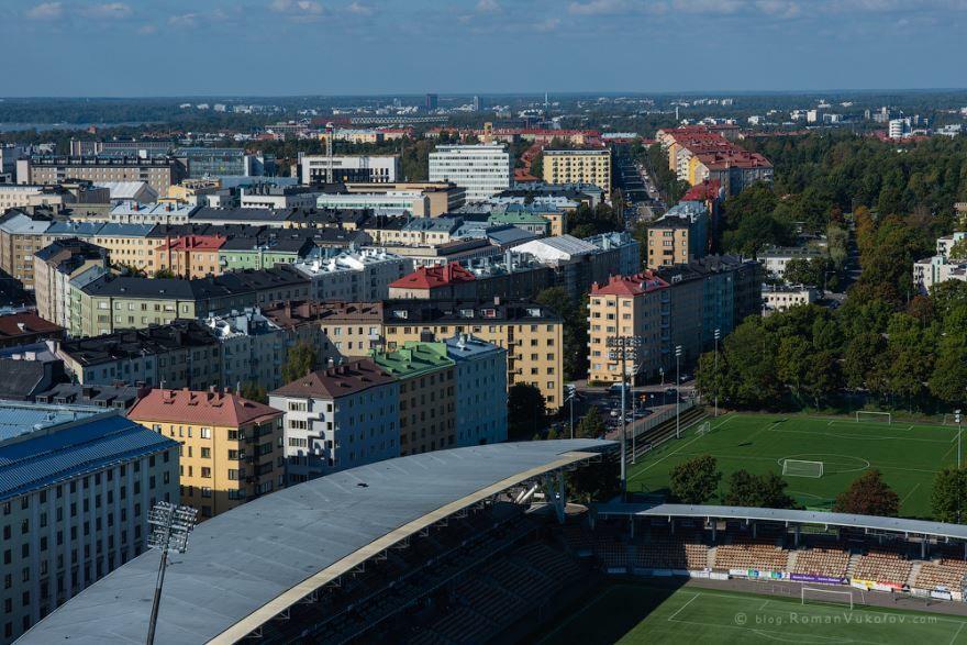 Смотреть красивое фото панорама города Хельсинки 2018