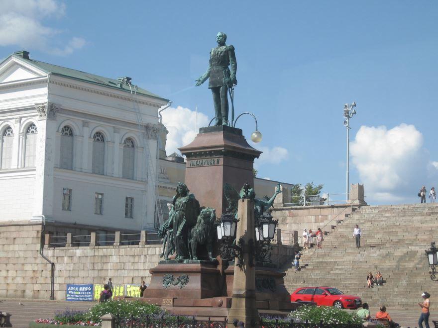 Памятник Александру II город Хельсинки