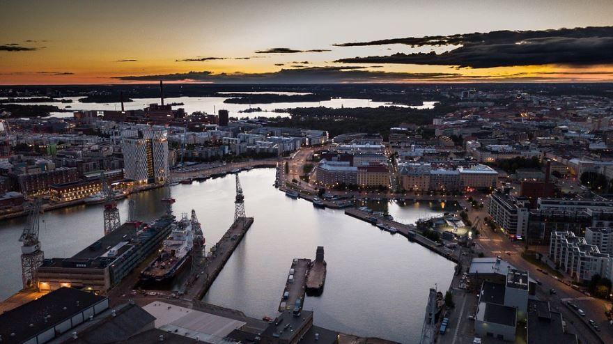 Порт город Хельсинки