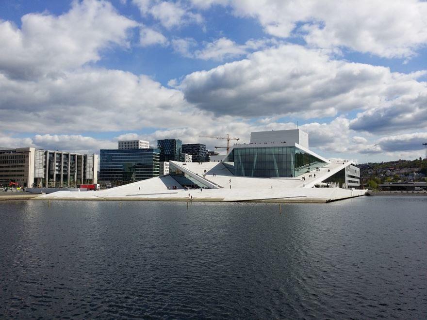 Красивая архитектура города Осло