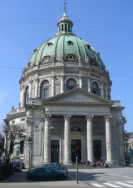 Мраморная церковь город Копенгаген