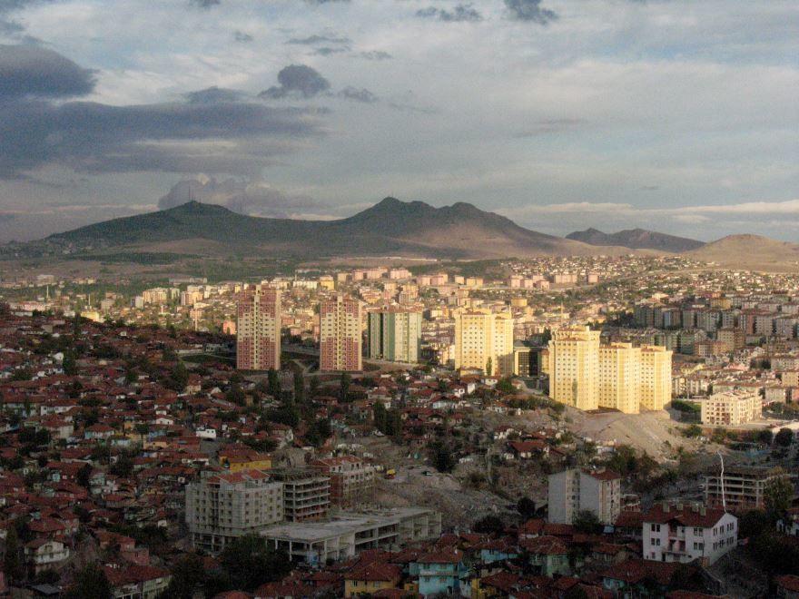 Вид сверху на город Анкара 2019