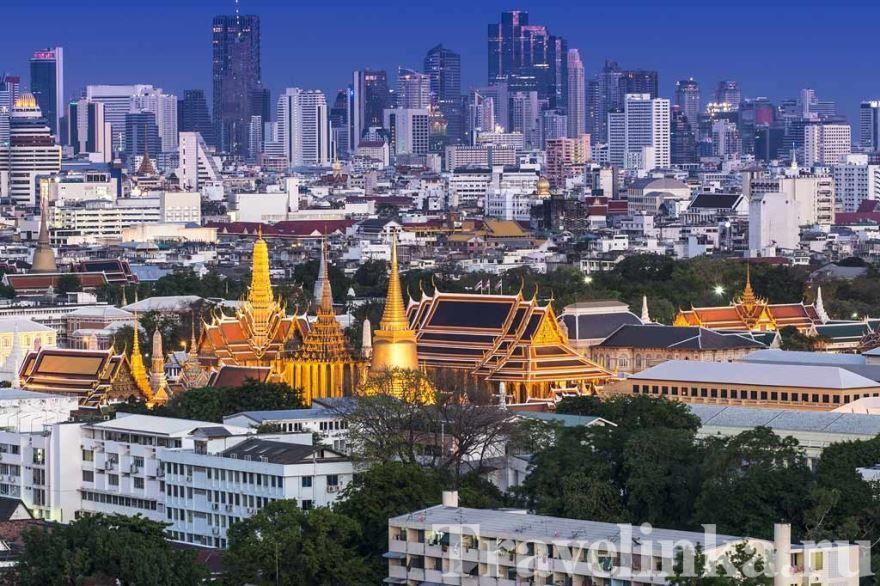 Смотреть красивое фото вид сверху на город Бангкок 2018