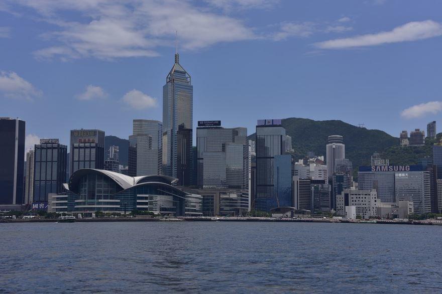 Гавань Виктория город Гонконг