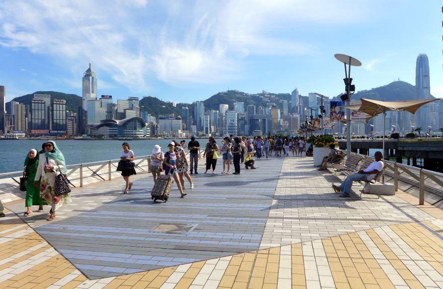 Набережная город Гонконг