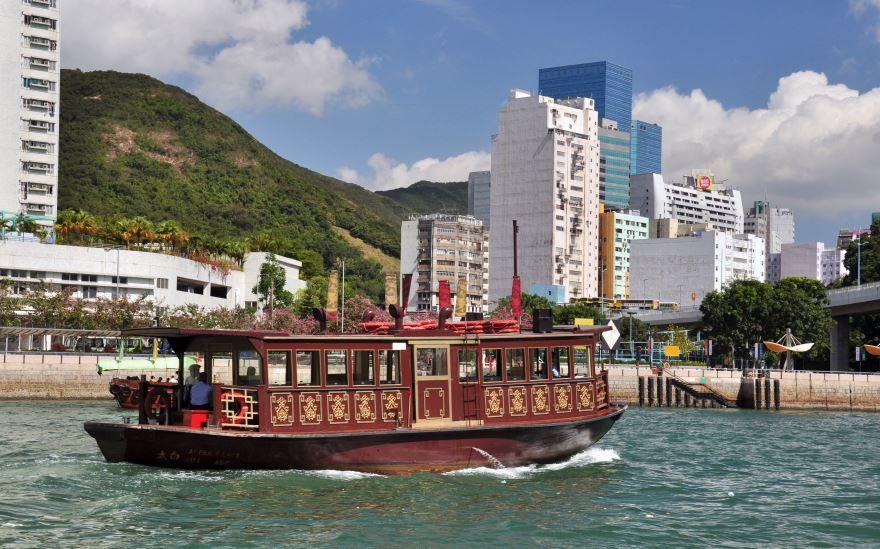 Смотреть красивое фото панорама города Гонконг