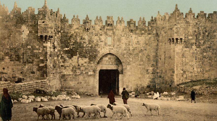 Смотреть лучшее старинное фото город Дамаск 1900 год