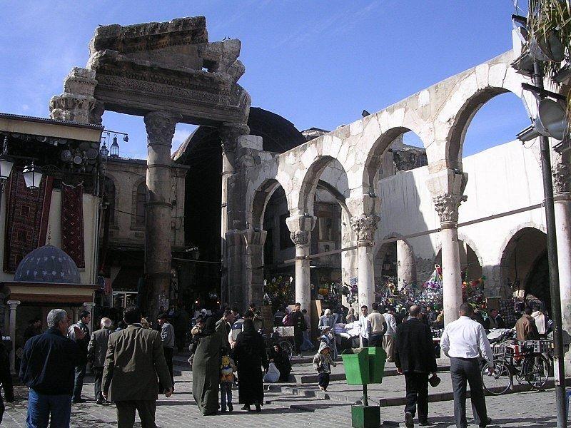 Римская арка город Дамаск