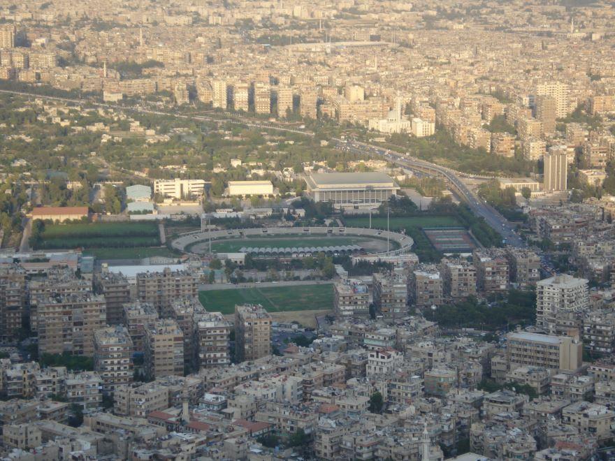 Смотреть красивое фото вид сверху город Дамаск Сирия