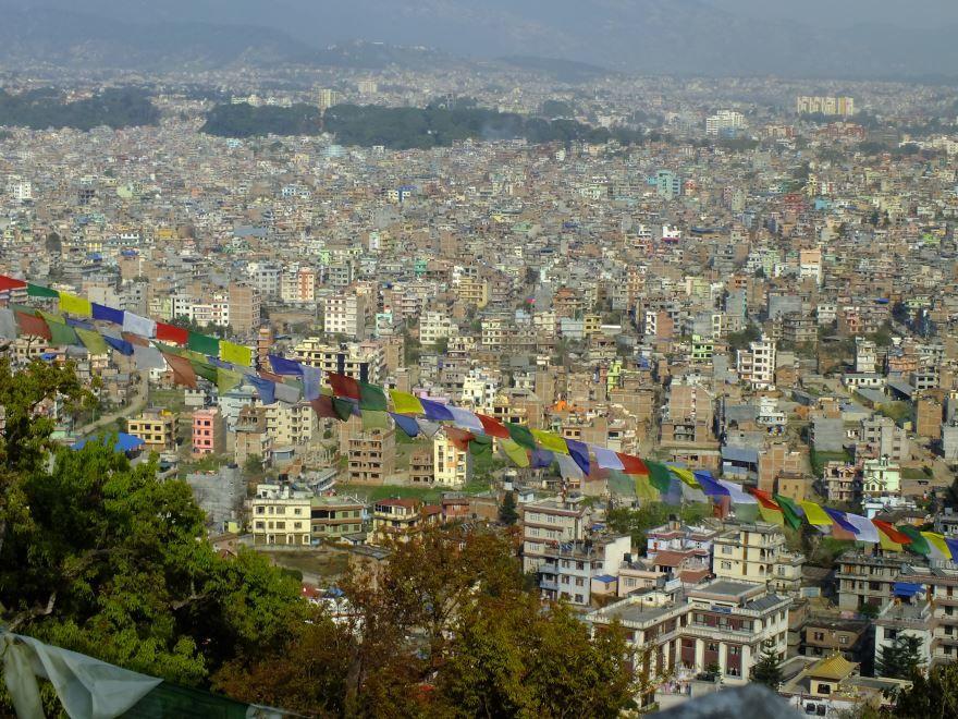 Смотреть красивое фото вид сверху город Катманду 2019