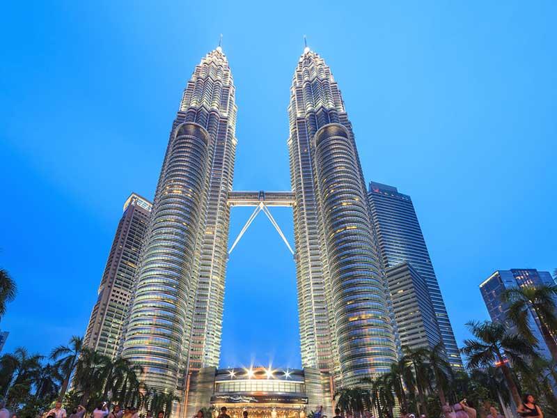 Башни близнецы город Куала Лумпур