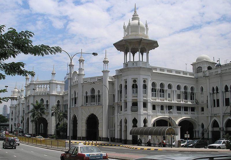 Железнодорожный вокзал город Куала Лумпур Малайзия